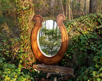 Wall Mirror, Rustic Mirror, Equestrian Mirror, Horse Mirror, Western Mirror, Cabin Mirror, Bar Mirror