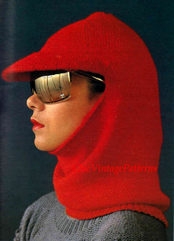 Knitted Balaclava With Brim Ladies Balaclava Vintage Pdf