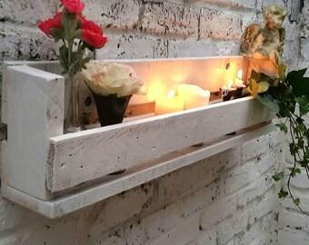 Shabby Chic Rustic Pallet Wood Handmade Wall Shelf