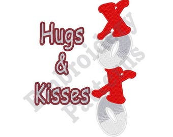 Hugs And Kisses - Machine Embroidery Design