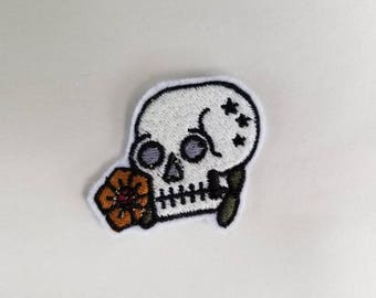 Floral Skull Patch