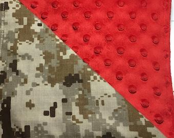 Military Inspired Baby Blankets, Navy, Army, Marines, Coast Guard