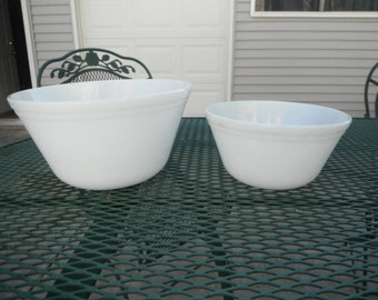 Pair of White Federal Bowls