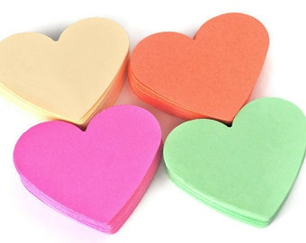 Heart die cuts pastel colors. Paper die cuts. Heart shape die cuts. Coral, Mint, Vanilla, Raspberry 40 pc. Weddings -  Valentines decor