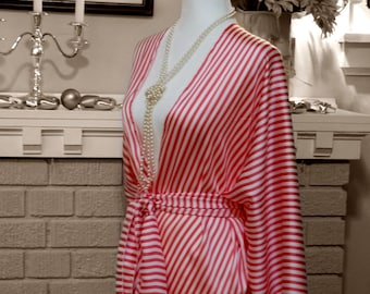 Pink and White Stripes ~ 1920's Inspired Jacket