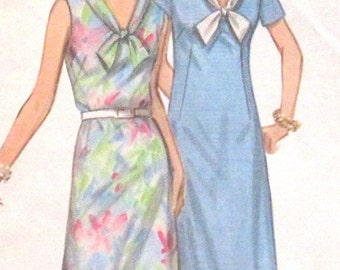 Vintage Dress  Sewing Pattern Simplicity 9330 Size 18
