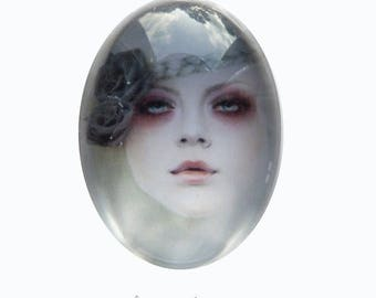 Modern photo, magical, fairy Ref104 woman cabochon