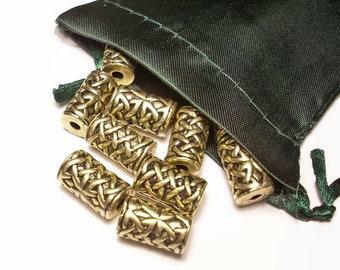 Celtic Knotwork Cylinder Bead Artisan Welsh Pewter Lead-Free Nickel-Free