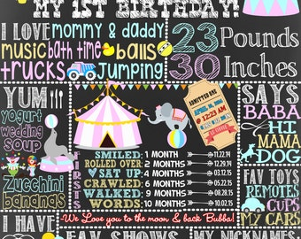 Girls birthday carnival, circus 1st birthday, carnival 1st birthday, unique circus decoration for birthday of any age, colorful BRDcir03