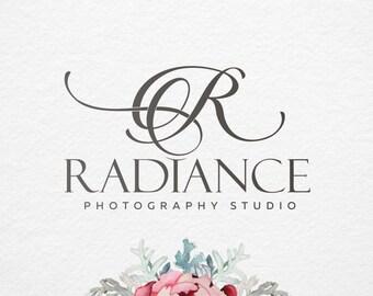 Initials Premade logo, Calligraphy logo, hand drawn logo