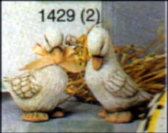 """Scioto S1328 - 2 Small Ducks Heads Down 4""""T Ceramic Mold   S6"""