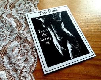 Erotic Booklabels 25 Personalized Ex Libris Bookplates