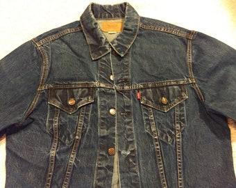 Vintage Levi 70505 0217 denim jacket Big E double pocket