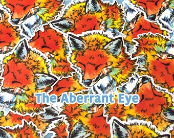 Limited Edition Watercolor Fox Sticker