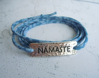 Namaste Bracelet Liberty of London Cord Wrap Around Inspirational Jewellery Yoga Jewelry Yoga Gifts BFF Friend Sister Mother Easter Gift