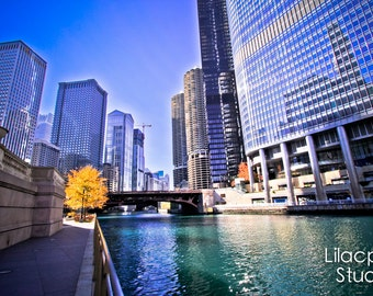 Chicago River 3 Fine Art Photograph on Metallic Paper