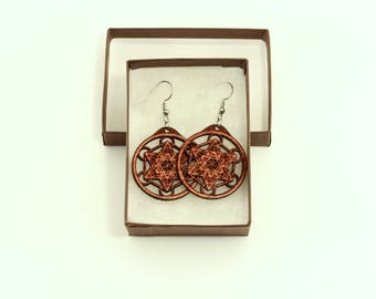 Metatrons Cube Earrings - Sacred Geometry Earrings - Sacred Geometry