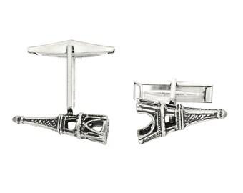 Sterling Silver Eiffle Tower Cufflinks