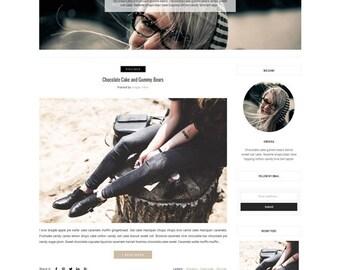 Responsive Premade Blogger Template - Minimalist Design - Photography Blog - Fashion Blog -Theme Blogspot