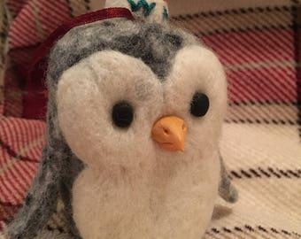 Needle Felt Christmas Penguin