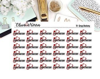 TV Show - Greys Anatomy Stickers EC