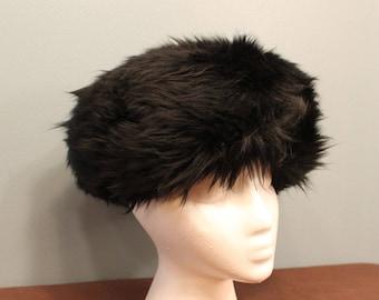 Vintage 1930's Handmade Black Fur Hat