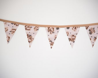 Cottage Rose Pennant Banner