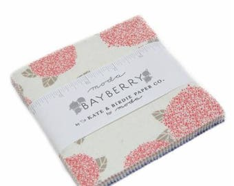 SPRING SALE - Charm Pack - Bayberry - Kate and Birdie - Moda Fabric