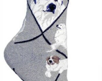Great Pyrenees Dog Breed Lightweight Stretch Cotton Adult Socks
