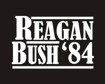Vintage Reagan Bush 84 decal, reagan bush campaign decal, ronald reagan decal, ronald reagan sticker, vintage reagan decal, reagan sticker