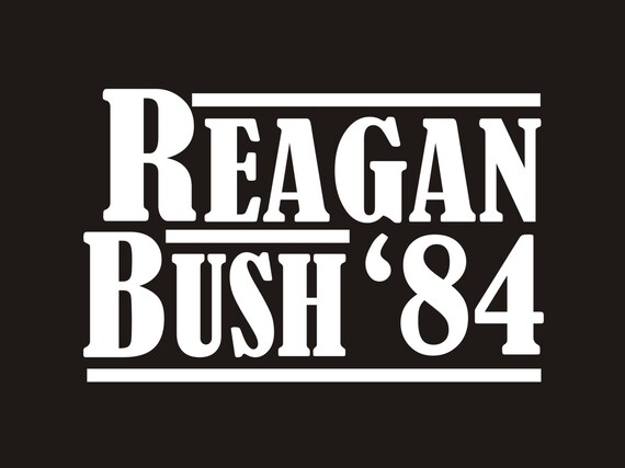 Vintage reagan bush 84 decal reagan bush campaign decal ronald reagan decal ronald reagan sticker vintage reagan decal reagan sticker