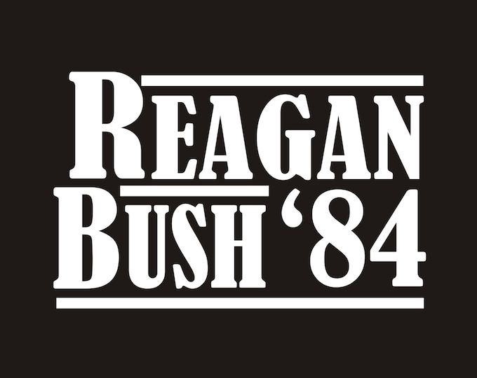 Vintage Reagan Bush 84 decal, reagan bush campaign decal, ronald reagan decal, ronald reagan sticker, vintage reagan decal, reagan sticker