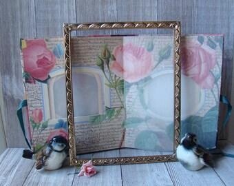 8 X 10 Gold Frame, Ornate Frame, Unique Frame, Wedding Frame, Nursery Frame, Vintage 8 X 10 Frame, 8 x 10 Metal Frames
