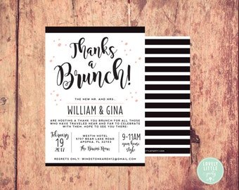 Thanks a Brunch Post Wedding Breakfast/Brunch Invitation  -  Lovely Little Party