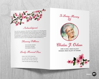 Funeral Program Template Etsy - Funeral flyer template