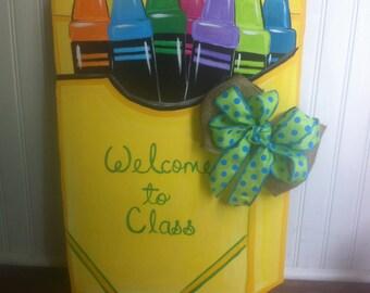 Crayon door hanger
