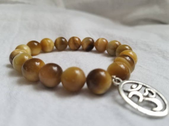 Manifestation: Reiki Attuned Golden Tiger Eye Healing Bracelet