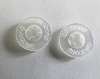 Small button * round with inscription Billabong (set of 8)