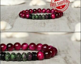 pink bracelet for women bracelet girl gift for girlfriend tiger eye bracelet gift for wife gifts girlfriend birthday jewelry gift for sister