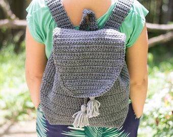 Summer Festival Backpack - Crochet Pattern, Everyday Backpack, Backpack Purse Pattern,Crochet Backpack Pattern,Drawstring Backpack