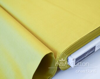 ORGANIC Cotton Solid Citron Fabric, Quilting Weight textile, Windham Fabrics, GOTS certified ORGANIC cotton