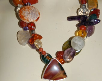 One Of A Kind Multi Stone Necklace