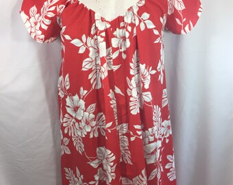 Muumuu Mama - Vintage MuuMuu - Medium MuuMuu - Vintage Hawaiian - Red MuuMuu - Hawaiaan Dress - Floral Muu Muu