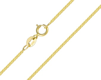 """10K Solid Yellow Gold Foxtail Necklace Chain 1.0mm 16-20"""" - Link"""