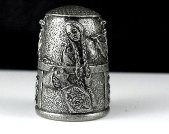 Collectible Thimble - Grimms Fairy Tale Rapunzel - Limited Edition by Gianni Benvenuti