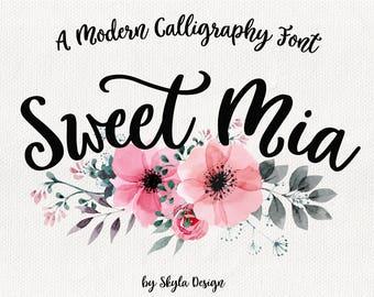 Modern calligraphy font, Cursive font, Handwritten font, Bold font download, Modern brush font, hand lettered font, cute font, digital font