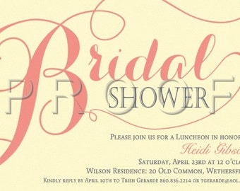 Bridal Shower Invitations, Invitations