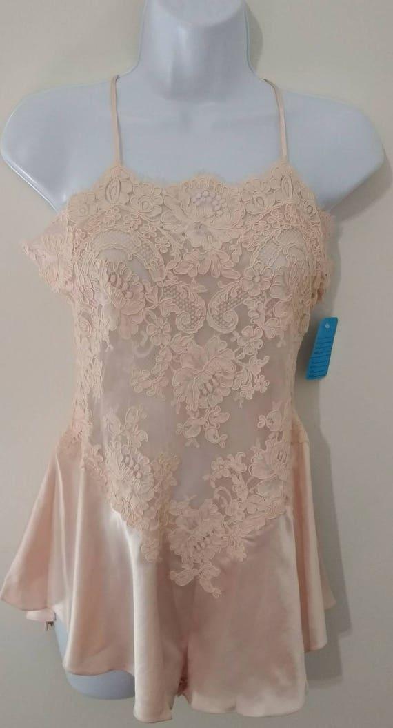 New New Alencon Size Teddy Lace w Pink Jonquil M Silk w Tags Tags wvXA1x