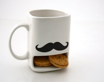 Mustache moustache cookie dunk mug