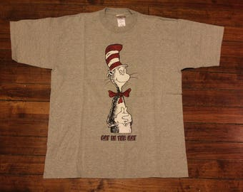 Dr Seuss Cat in the hat tshirt shirt graphic tee sparkles sparkling 1997 Adult XL